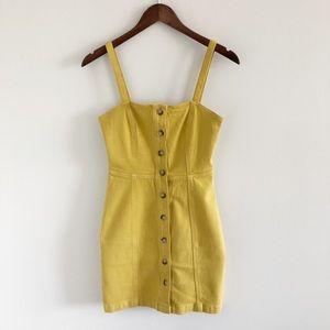Aritzia Wilfred Free Shasta Yellow Dress 2